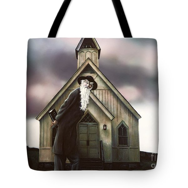 Tote Bag featuring the painting Doubt Or Faith by Dave Luebbert