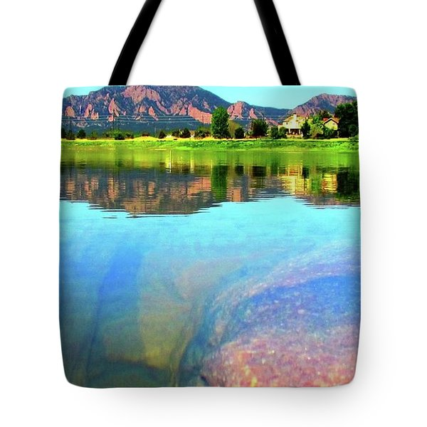 Tote Bag featuring the photograph Doughnut Lake by Eric Dee