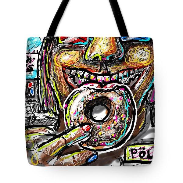 Tote Bag featuring the digital art Doughnuts by Joe Bloch