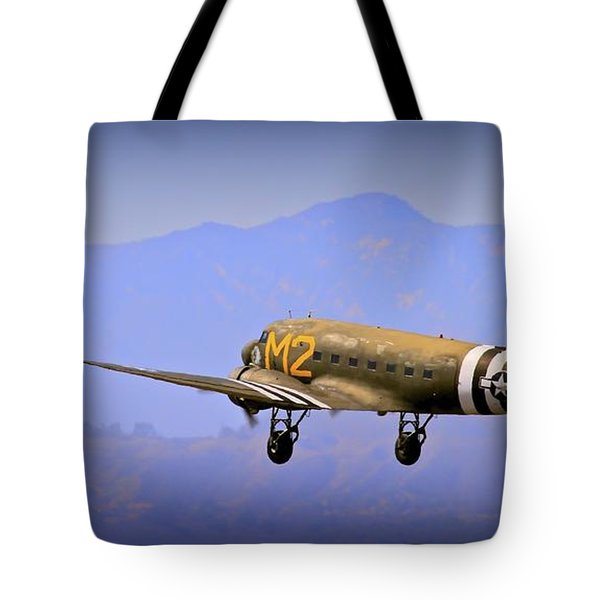Douglas C-47 Invasion Blues Tote Bag