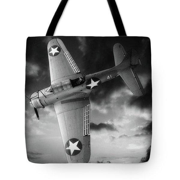 Douglas Sbd Dauntless Black And White Tote Bag