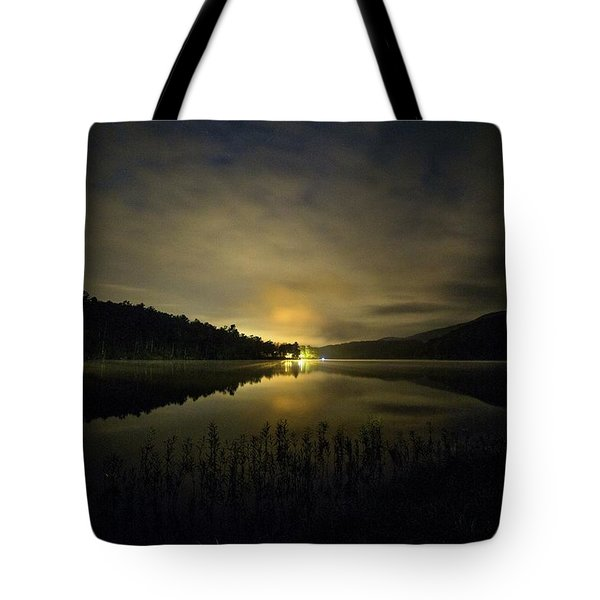 Tote Bag featuring the photograph Douthat Lake Night by Alan Raasch