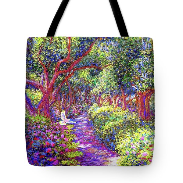 Dove And Healing Garden Tote Bag