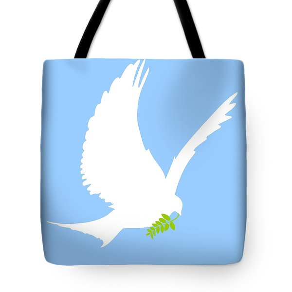 Dove And Olive Branch Tote Bag by Colette Scharf