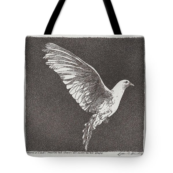 Dove Drawing Tote Bag by William Beauchamp