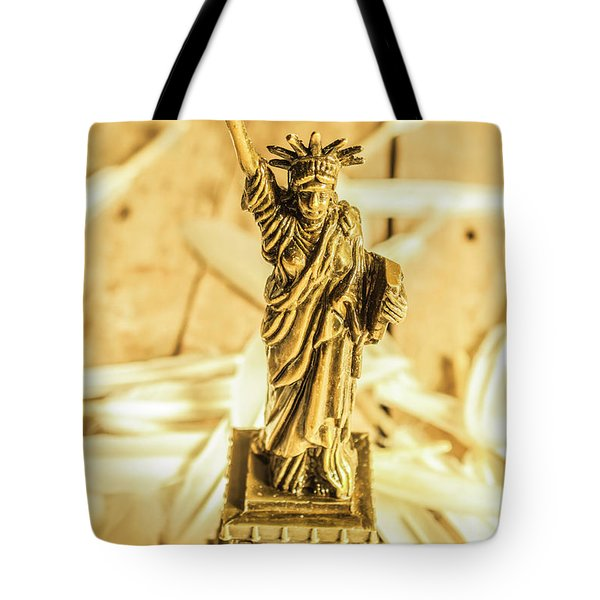 Dove Feathers And American Landmarks Tote Bag