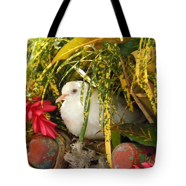 Dove In Jamaica Tote Bag