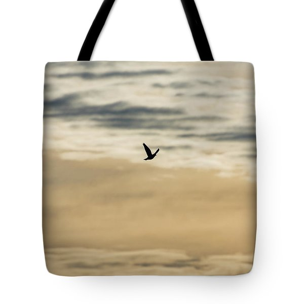 Dove In The Clouds Tote Bag