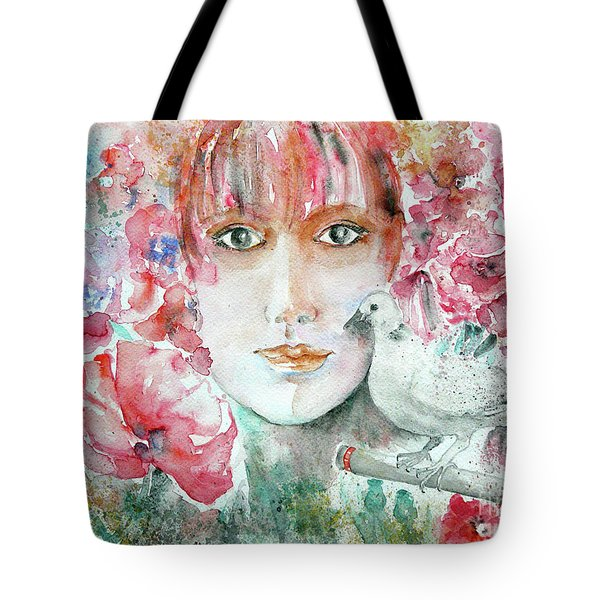 Dove Tote Bag by Jasna Dragun