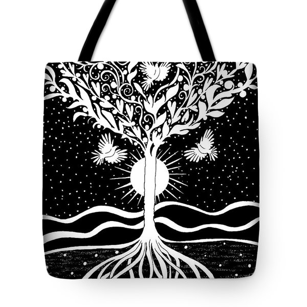 Dove Tree Tote Bag