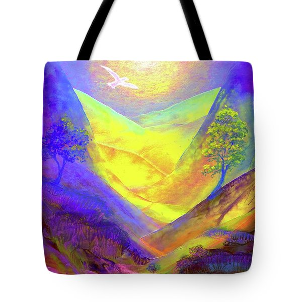 Tote Bag featuring the painting Dove Valley by Jane Small
