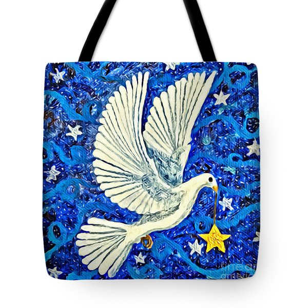 Dove With Star Tote Bag