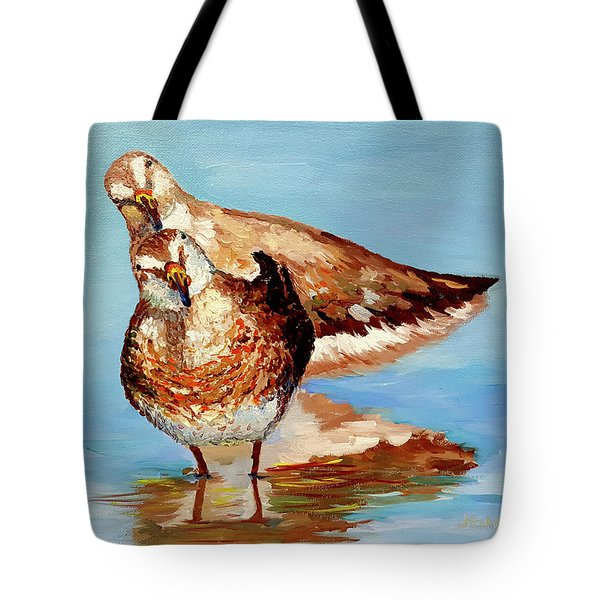 Dowitcher Birds Tote Bag