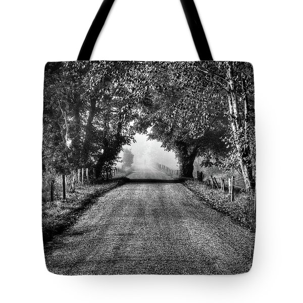 Tote Bag featuring the photograph Down A Lonely Road by Douglas Stucky