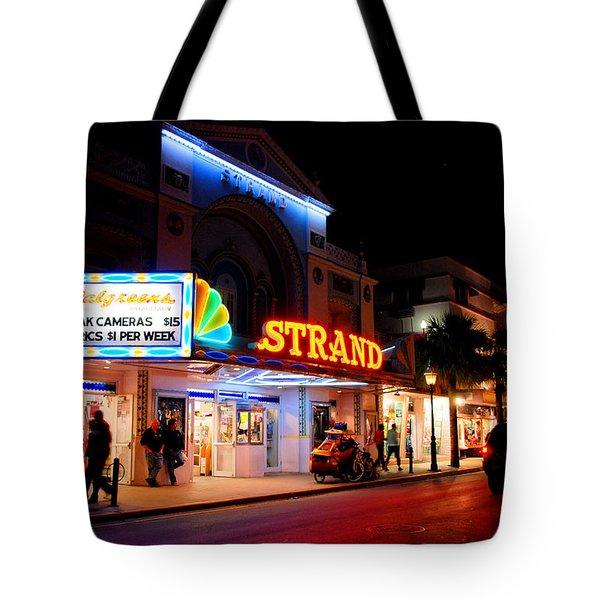 Down On Duval In Key West Tote Bag by Susanne Van Hulst