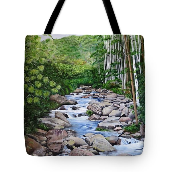 Down Stream  Tote Bag by Marilyn McNish