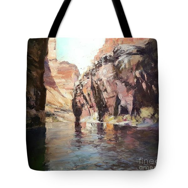 Down Stream On The Mighty Colorado River Tote Bag