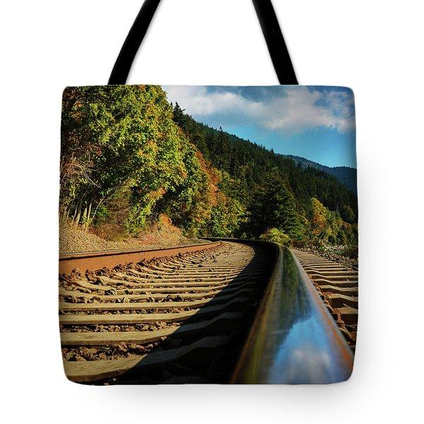 Down The Chukanut Line Tote Bag