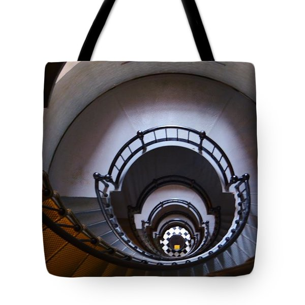 Down The  Lighthouse Stairs Tote Bag