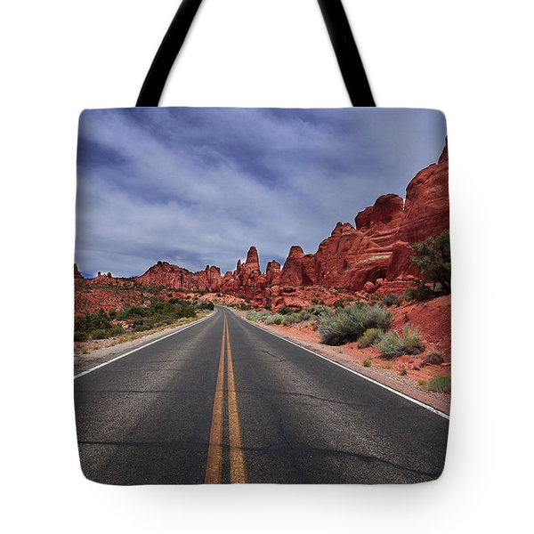 Down The Open Road Tote Bag