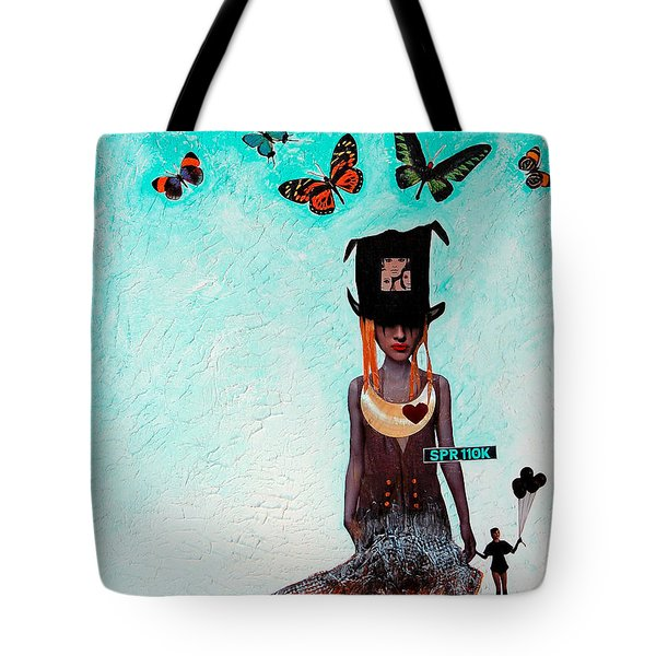 Down The Rabbit Hole Tote Bag by Sharon Cummings