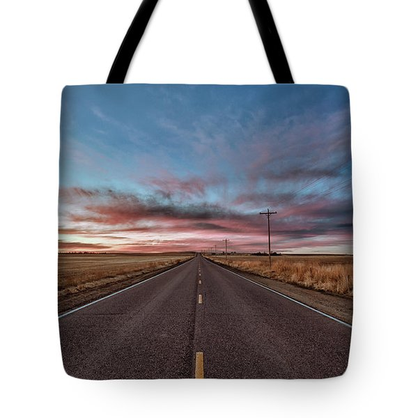 Tote Bag featuring the photograph Down The Road by Monte Stevens