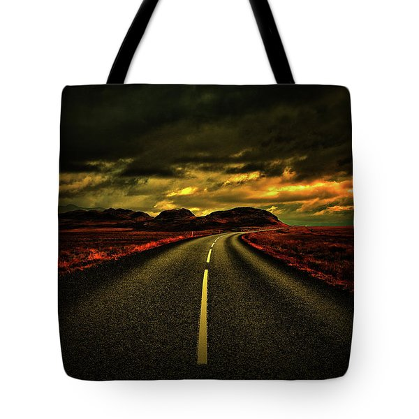 Tote Bag featuring the photograph Down The Road by Scott Mahon