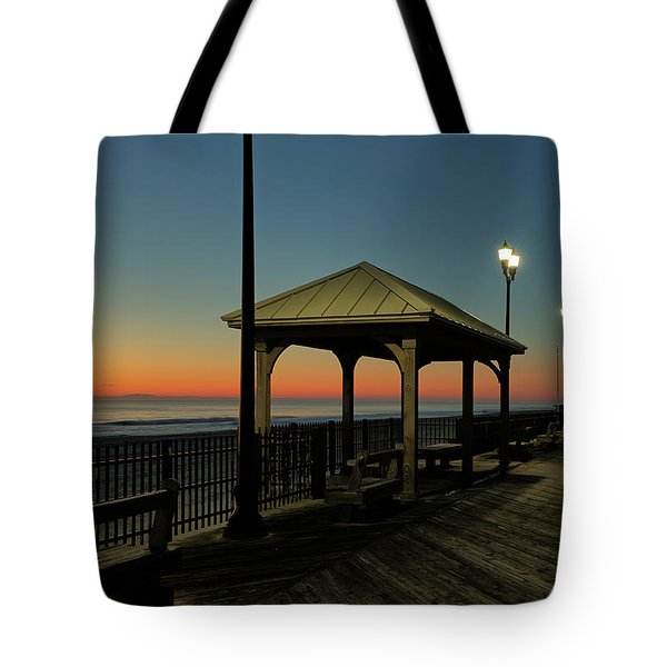 Down The Shore At Dawn Tote Bag
