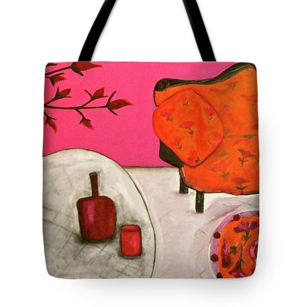 Down The Stairs Into The Living Room  By Paul Paucciarelli  Tote Bag