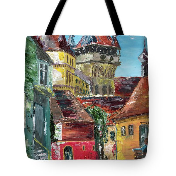 Down The Street Tote Bag