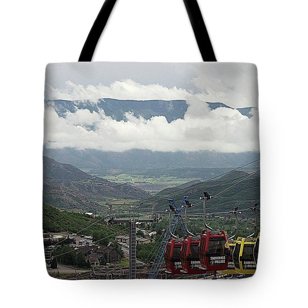 Down The Valley At Snowmass Tote Bag