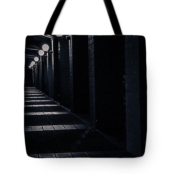 Down The Walkway Tote Bag