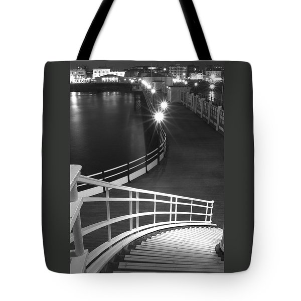 Down To The Pier Tote Bag by Hazy Apple