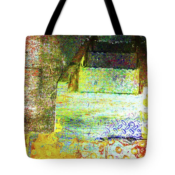 Tote Bag featuring the mixed media Down by Tony Rubino