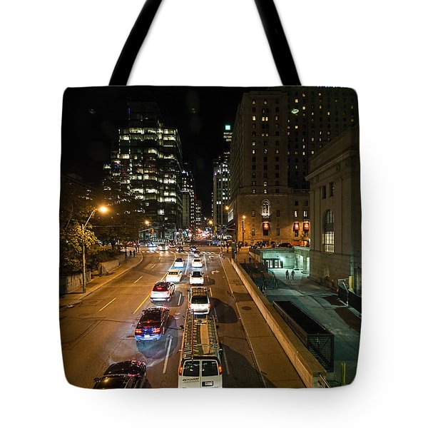 Down Town Toronto At Night Tote Bag