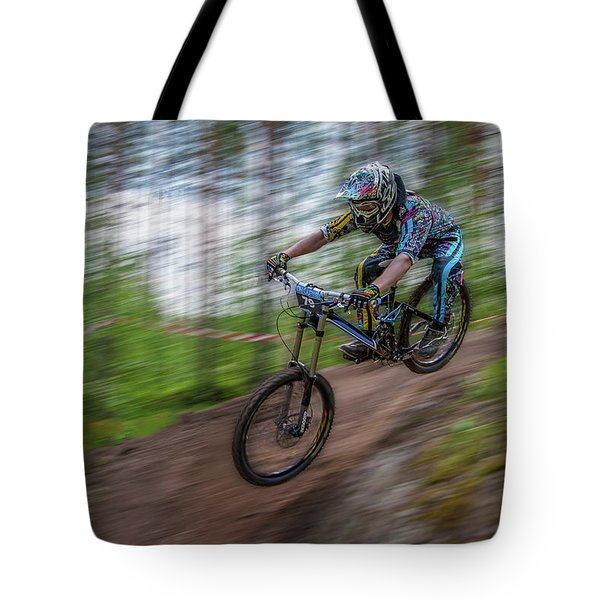 Downhill Race Tote Bag
