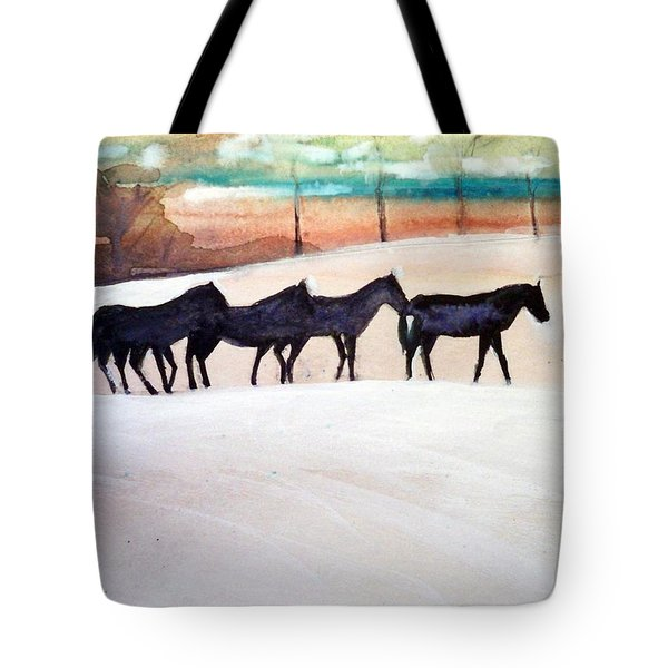 Downs Stables Tote Bag by Ed Heaton