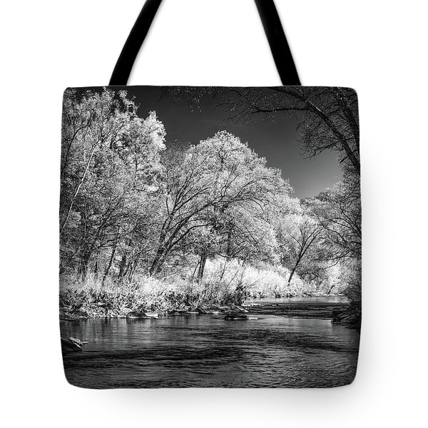 Tote Bag featuring the photograph Downstream At Natural Dam by James Barber