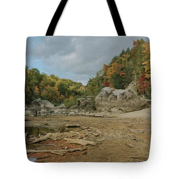 Downstream From Cumberland Falls Tote Bag