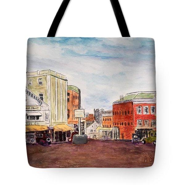 Downtown Amesbury Ma Circa 1920 Tote Bag