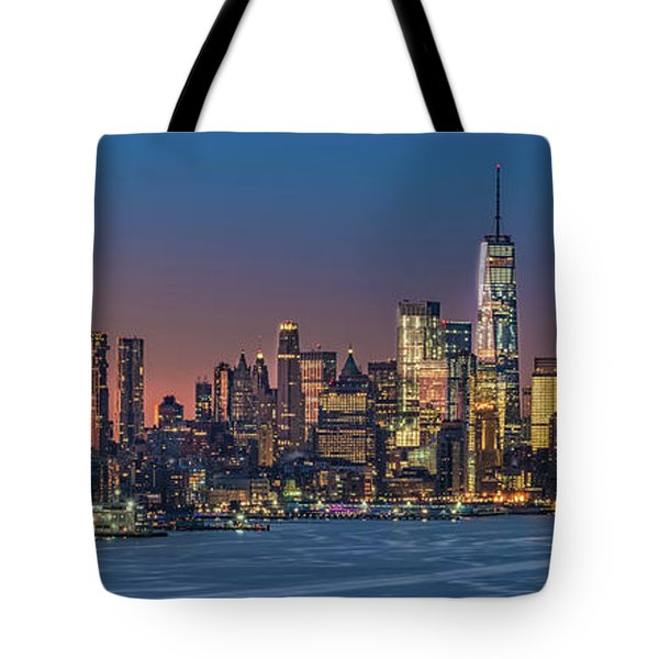 Downtown And Freedom Tower Tote Bag