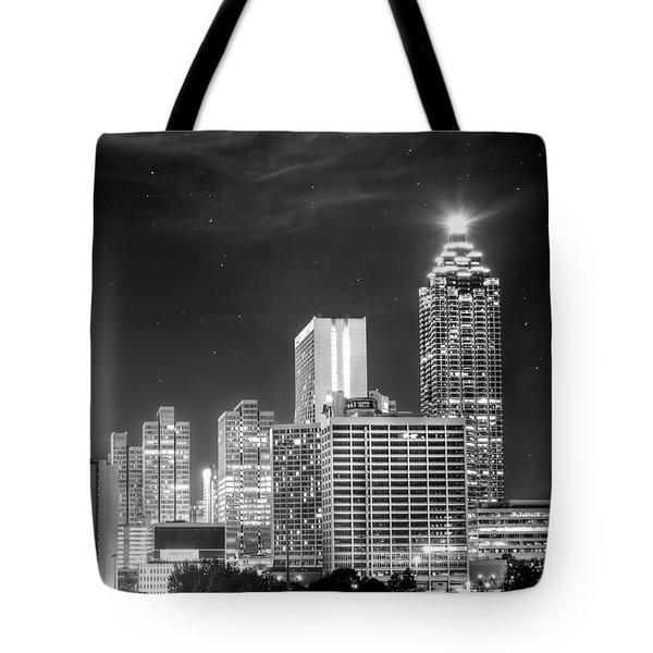 Downtown Atlanta Skyline Tote Bag