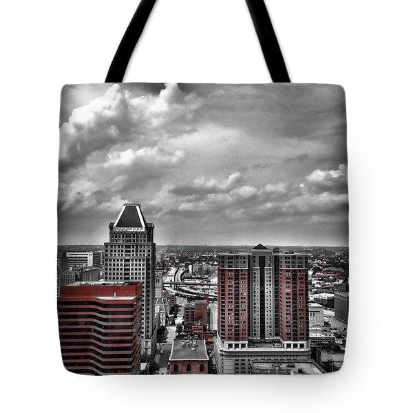 Downtown Baltimore City Tote Bag