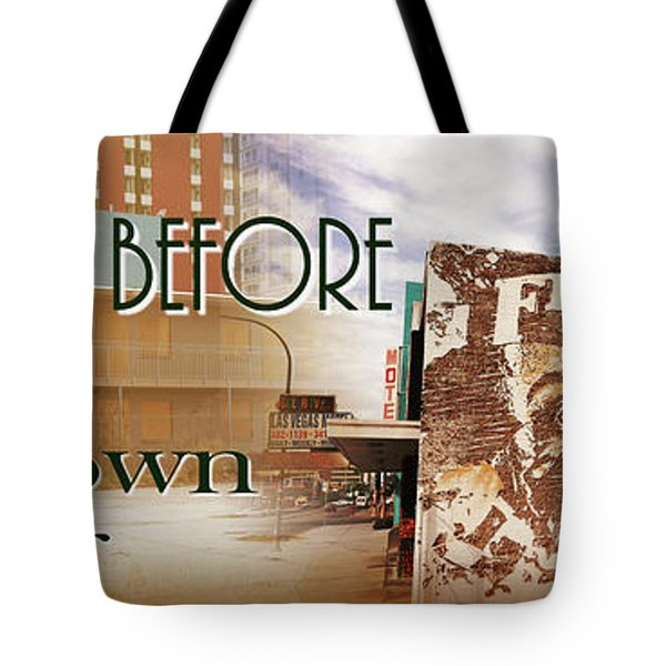 Downtown Before And Downtown After Tote Bag