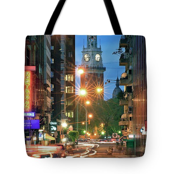 Tote Bag featuring the photograph Downtown by Bernardo Galmarini