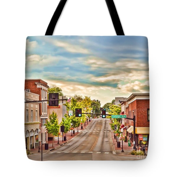 Downtown Blacksburg Tote Bag
