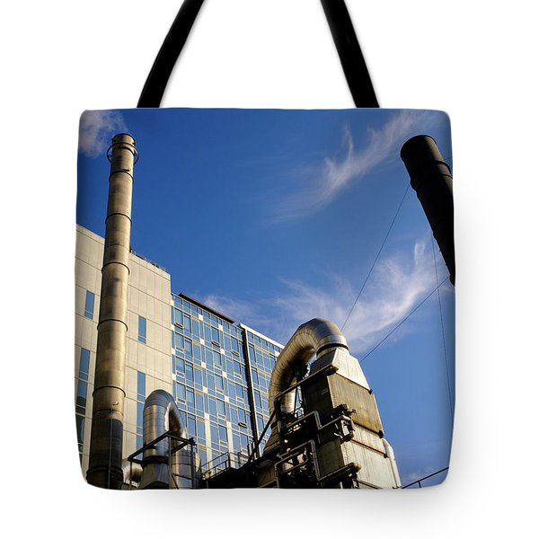 Downtown Buildings And Factory In Seattle Washington Tote Bag