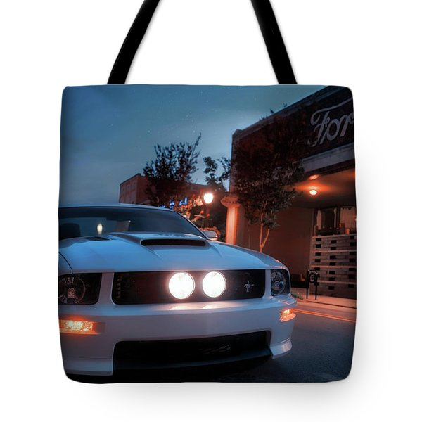 Tote Bag featuring the photograph Downtown California Special - Mustang - American Muscle Car by Jason Politte