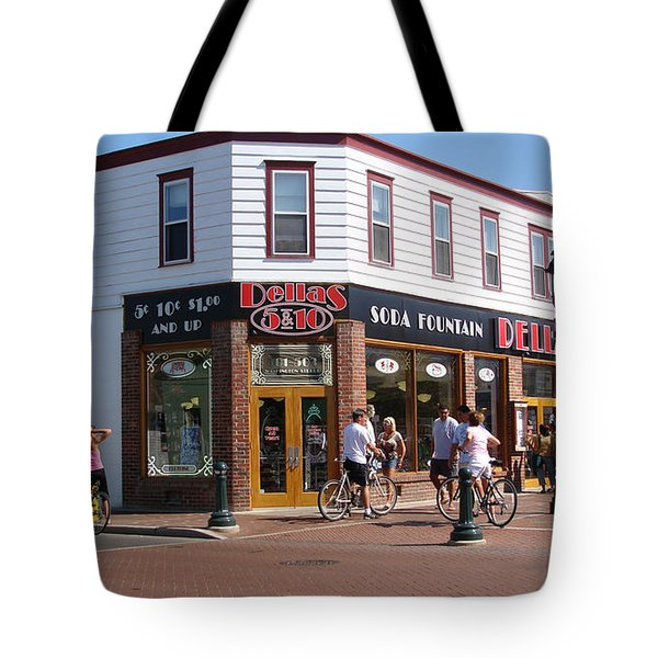 Downtown Cape May New Jersey Tote Bag by Rod Jellison