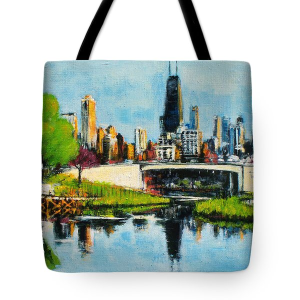 Downtown Chicago From Lincoln Park Tote Bag
